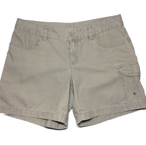 The North Face Olive Green Cargo Shorts Size 8